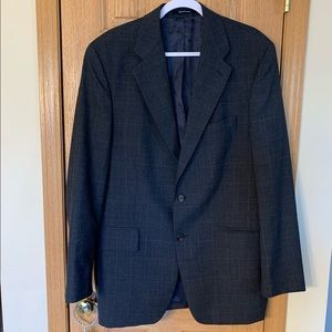 Chaps Ralph Lauren Plaid Wool Blazer 42T